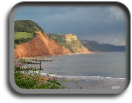Looking east from Sidmouth, Devon, UK